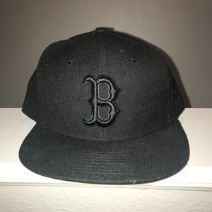 Boston Red Sox Black Fitted Hat